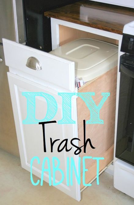 How To Build A Pull Out Trash Bin From Existing Cabinets Kitchen