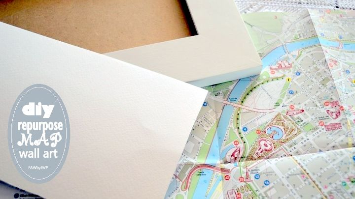 diy crafts upcycling map wall art, crafts, decoupage, how to, repurposing upcycling, wall decor