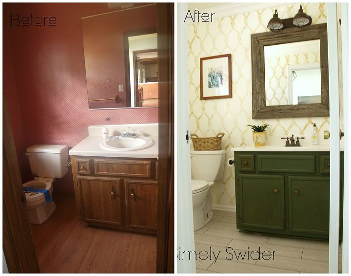 Nautical Inspired Bathroom Makeover Ideas Home Improvement Painted Furniture Painting