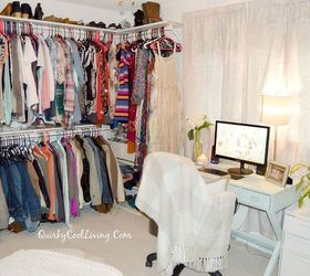 Craft Room Turned Dressing Closet Room On A Budget, Bedroom Ideas, Closet,  Organizing