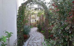 my diy recycled secret garden, concrete masonry, gardening, repurposing upcycling, Almost done