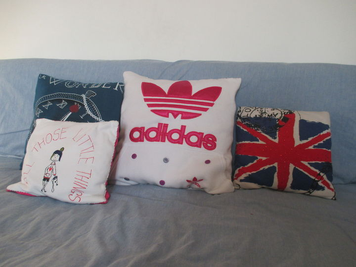 from sweatshirt to pillow, crafts, how to, repurposing upcycling