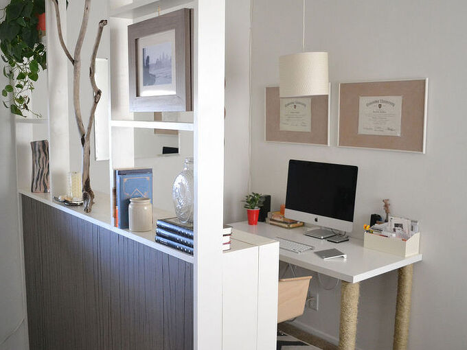 diy room divider made with bookcases, home office, how to, living room ideas, storage ideas
