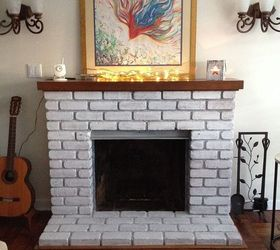 Easy Fireplace Makeover-Whitewash the Brick! | Hometalk