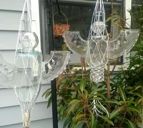 Garden Angels Are For The Birds, Gardening, Repurposing Upcycling