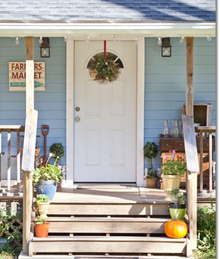 Blue Cottage front door