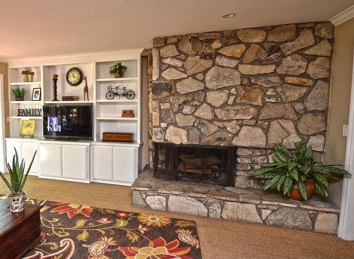 q idaea for quick fireplace update, fireplaces mantels, living room ideas