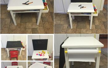 old desk turned kids activity station, painted furniture, repurposing upcycling