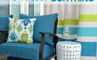 diy outdoor curtains perfect for spring, outdoor living, repurposing upcycling, reupholster