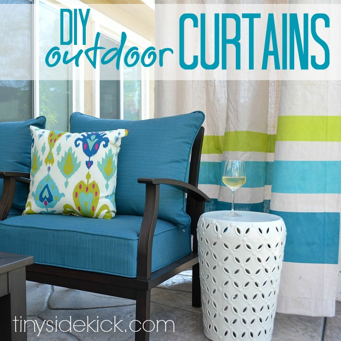 Diy Outdoor Curtains Perfect For Spring Hometalk