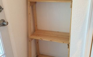 simple diy ladder shelf, diy, how to, shelving ideas, woodworking projects