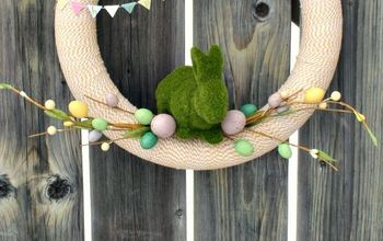 Baker's Twine Spring or Easter Wreath Made Easy