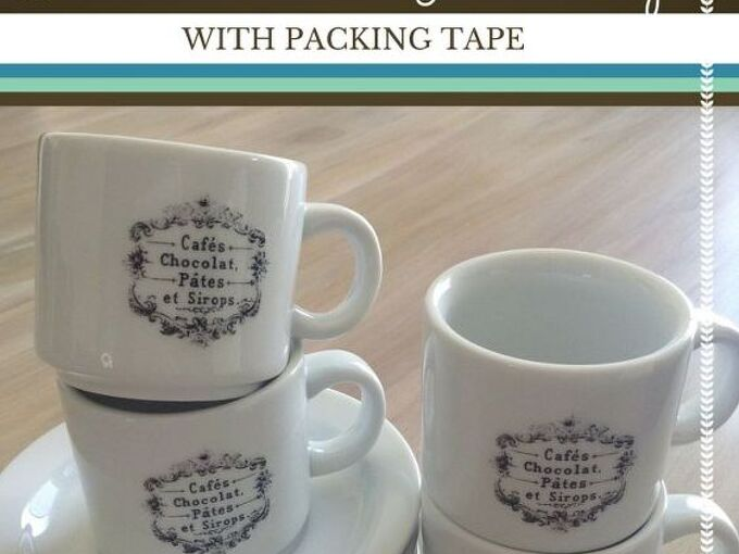 how to make glass clings with packing tape, crafts, how to, repurposing upcycling