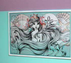 Little Mermaid Bedroom Makeover, Bedroom Ideas, Paint Colors, Painting