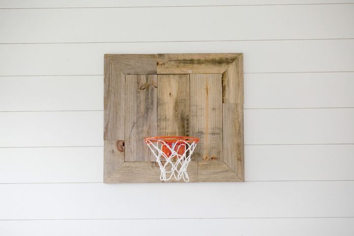 diy basketball goal made with pallets, pallet, repurposing upcycling, woodworking projects