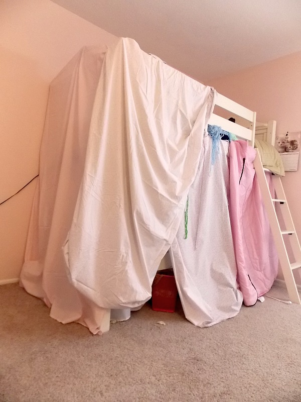 super easy secret to building the perfect bunk bed tent, bedroom ideas, how to, repurposing upcycling
