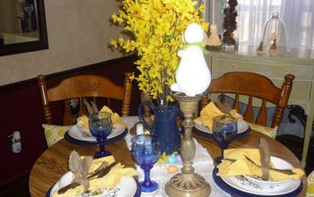 Creating an Easter Table on a Dime-Anyone Can do it!