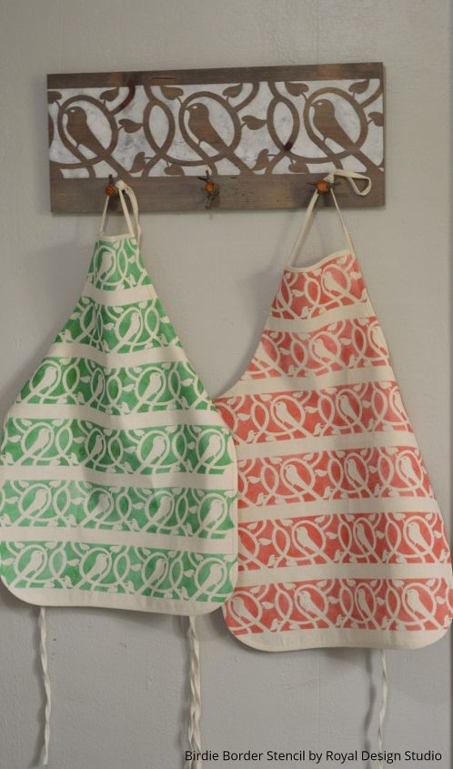 stylish stenciled aprons how not to have a closet full of paint clothes, crafts, how to, painted furniture, painting