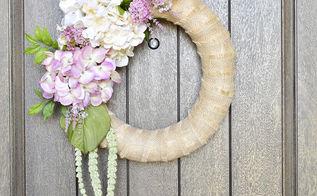 spring door wreath, crafts, how to, hydrangea, wreaths
