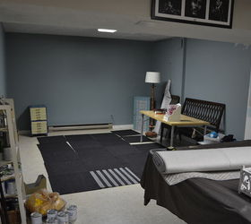 Charming Before After My Pretty She Cave Basement Office Makeover, Basement Ideas,  Home Office,
