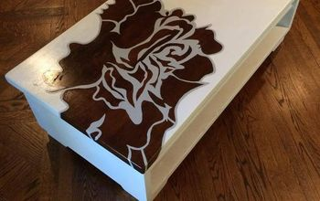 rose coffee table, painted furniture