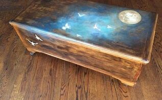 on the night you were born toy chest, painted furniture