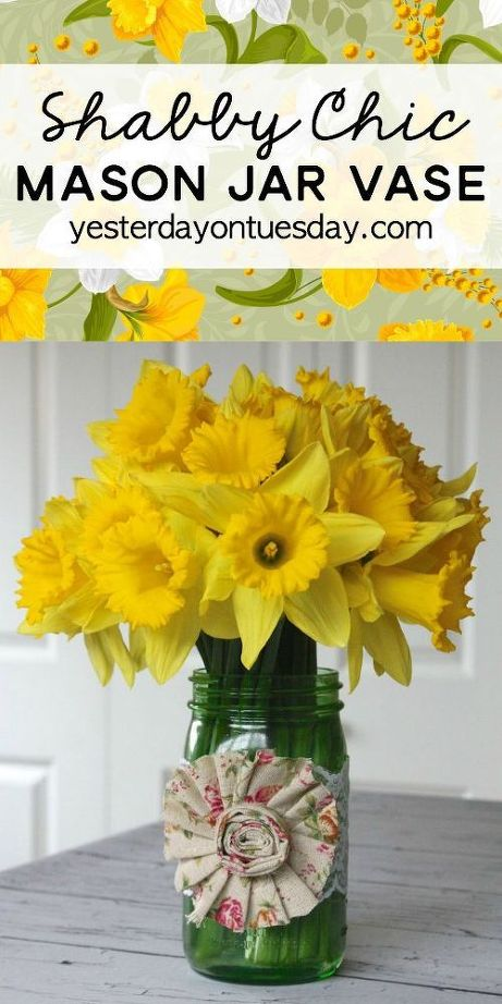 Spring Mason Jar Vase Springideas Crafts Easter Decorations Flowers Gardening How