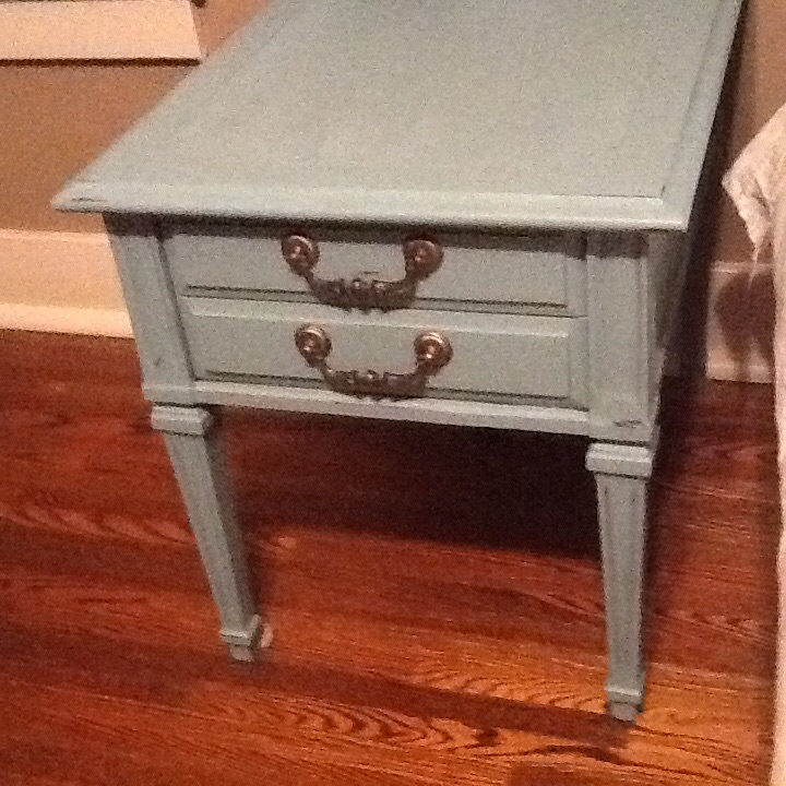 q what colour should i paint headboard and wallls, chalk paint, paint colors, painted furniture, painting, Side tables done in provence