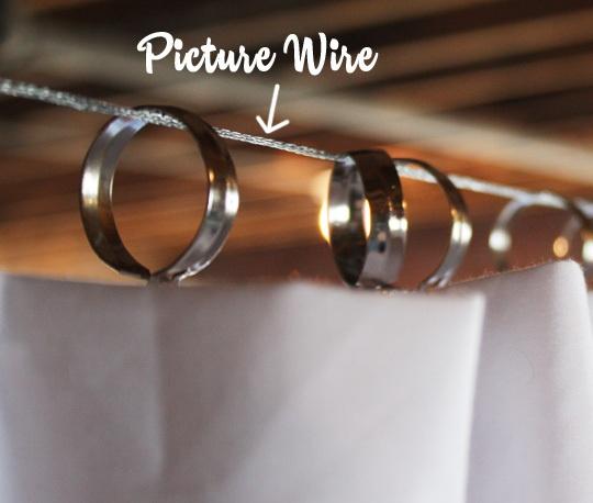 q old fashioned curtain wire, home decor, window treatments, windows