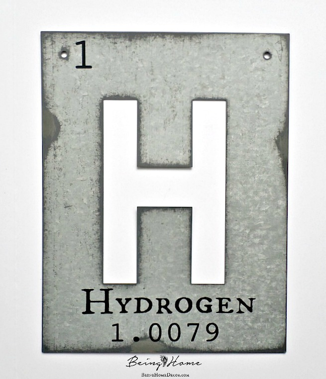 Galvanized Letters The Periodic Table Hometalk