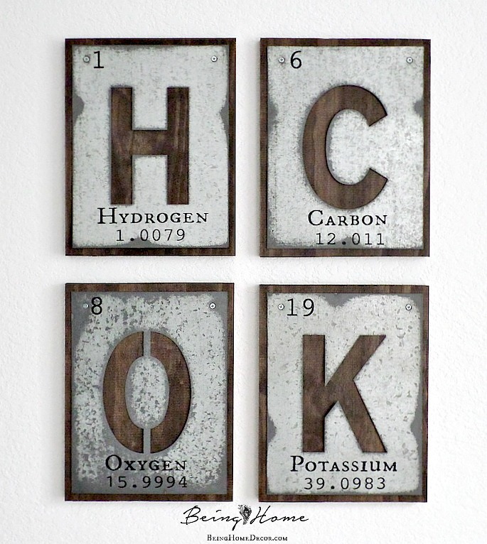 Galvanized letters the periodic table hometalk galvanized letters the periodic table crafts rustic furniture wall decor urtaz Image collections