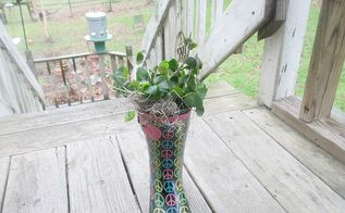 the boots aren t made for gardening, container gardening, gardening, repurposing upcycling