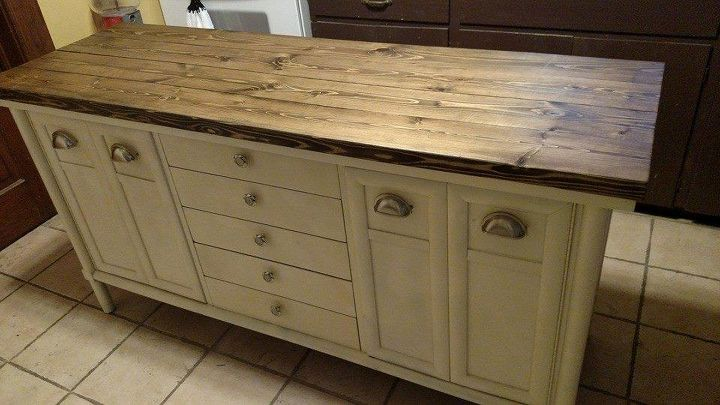 Old Buffet To Kitchen Island!