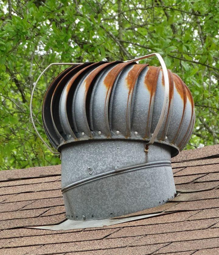 repurposed roof wind turbine, halloween decorations, repurposing upcycling, roofing, seasonal holiday decor