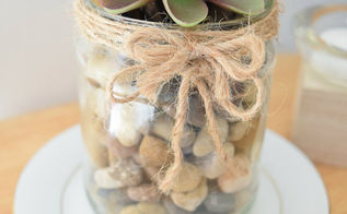 stylish succulent pot diy jar recycle, container gardening, flowers, gardening, repurposing upcycling, succulents