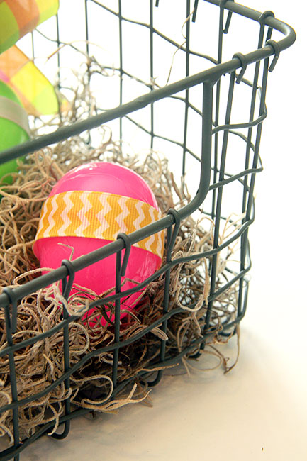 bright and cheerful industrial easter basket centerpiece, crafts, dining room ideas, easter decorations, how to, seasonal holiday decor