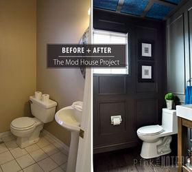 Reveal Dated Powder Room Gets A Moody Makeover, Bathroom Ideas, Small  Bathroom Ideas,
