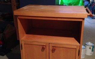 q i have a butcher block i want to turn it into a kitchen island, how to, kitchen design, kitchen island, repurposing upcycling, butcher block table in need of