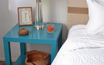 diy nightstands ikea lack table hack, painted furniture, repurposing upcycling