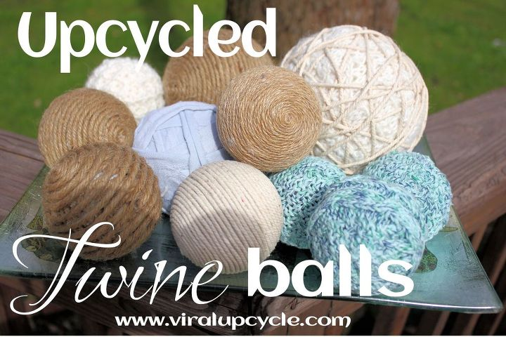 upcycled balls into decorative twine vase fillers, crafts, how to, repurposing upcycling
