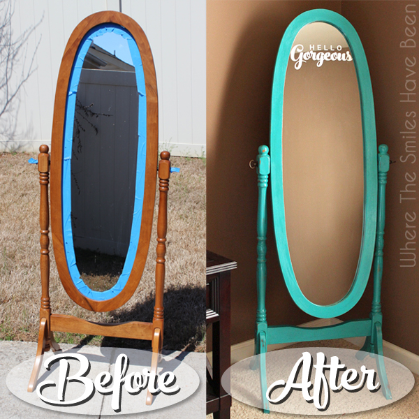 hello gorgeous mirror makeover with chalk paint etched glass vinyl, chalk paint, painted furniture