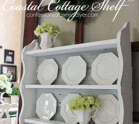 Coastal Cottage Shelf Using Old Fence Pickets, Fences, Painted Furniture,  Repurposing Upcycling,