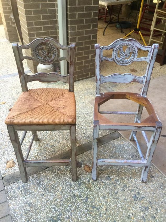 distressed paris grey bar stools, chalk paint, how to, painted furniture, painting
