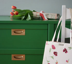 Charming Hello Spring Kelly Green And Coral Midcentury Makeover, Painted Furniture,  Reupholster