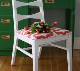 Hello Spring Kelly Green And Coral Midcentury Makeover, Painted Furniture,  Reupholster