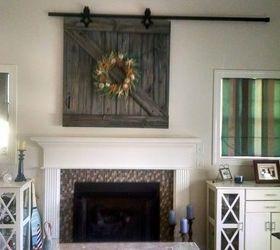 Barn Door Tv Cover, Diy, Doors, How To, Repurposing Upcycling, Wall