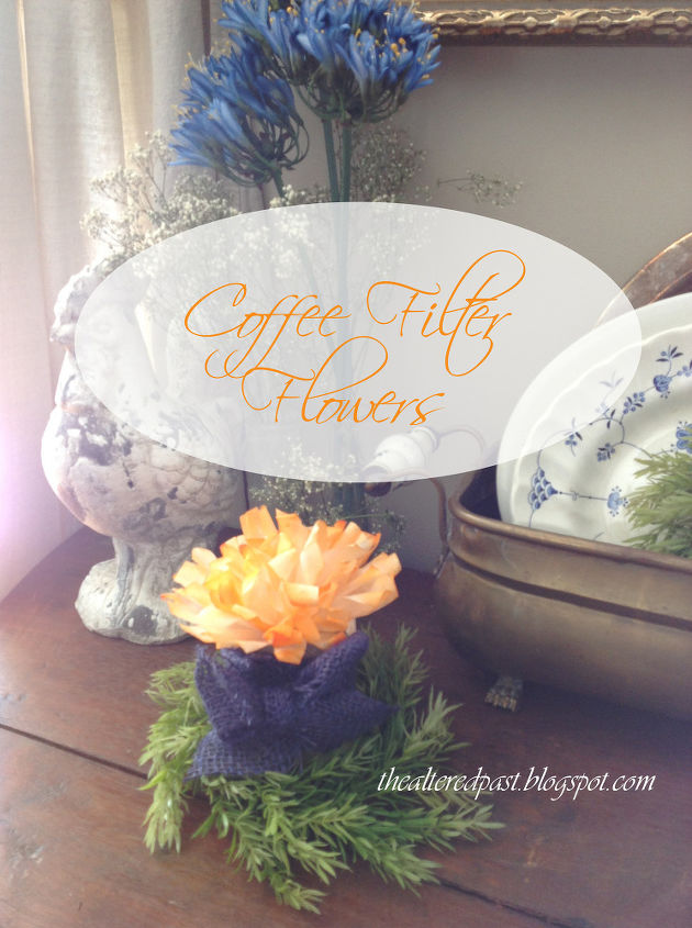 super easy coffee filter craft makes beautiful flowers, crafts, how to, repurposing upcycling