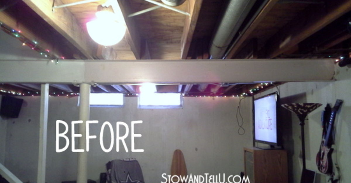Tips For Painting An Exposed Basement Ceiling Hometalk