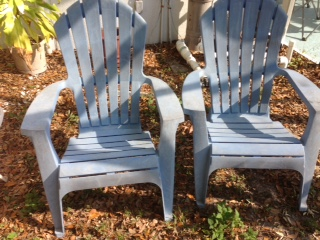 before you pitch those white resin chairs, outdoor furniture, outdoor living, painted furniture
