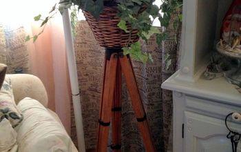 repurposing a antique surveying transit tripod, gardening, home decor, repurposing upcycling